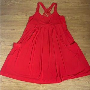 Calvin Klein red spaghetti strap dress size 12